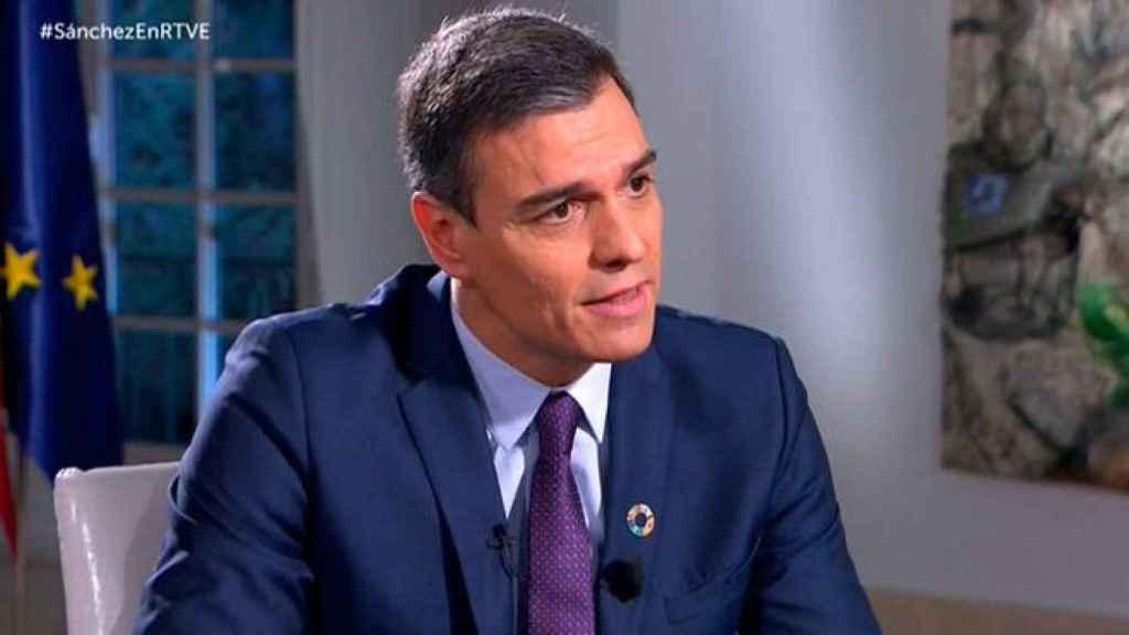 Pedro Sánchez, en su primera entrevista como presidente del Gobierno en RTVE.