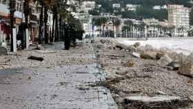 Los desperfectos causados por las intensas lluvias causados por el temporal Gloria en Javea.