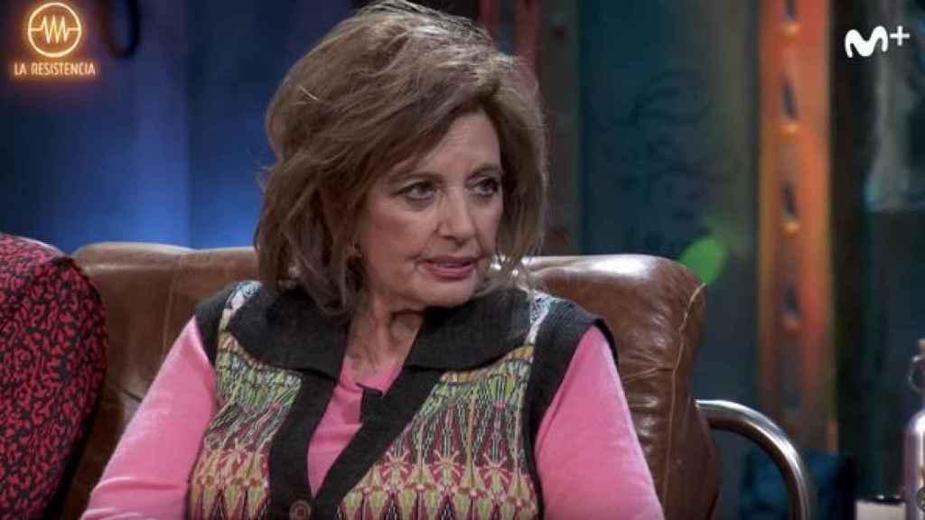 María Teresa Campos durante su visita en 'La Resistencia'.