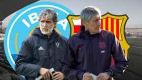 Pablo Alfaro y Quique Setién: UD Ibiza - FC Barcelona de la Copa del Rey