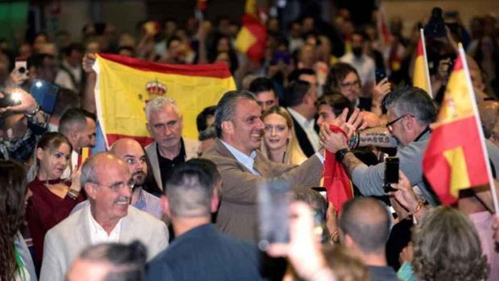 Ortega Smith en un acto en Algeciras