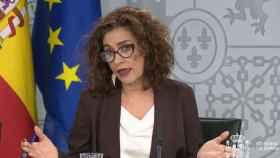 María Jesús Montero, ministra de Hacienda y portavoz del Gobierno.