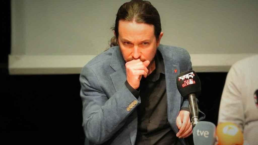 Pablo Iglesias, en el Teatro del Barrio, en un homenaje a las víctimas del franquismo.
