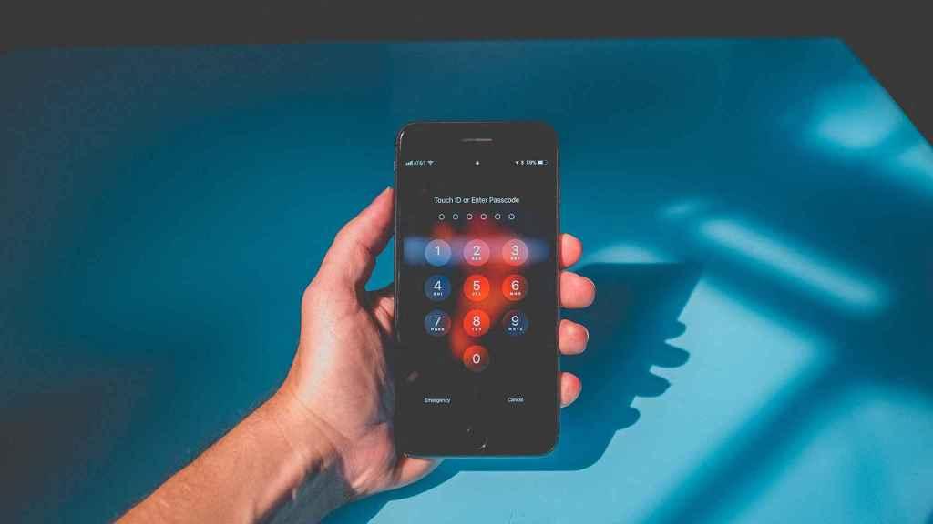 iPhone bloqueado.
