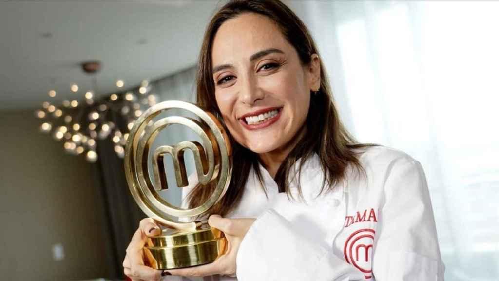Tamara Falcó, tras proclamarse ganadora del concurso.