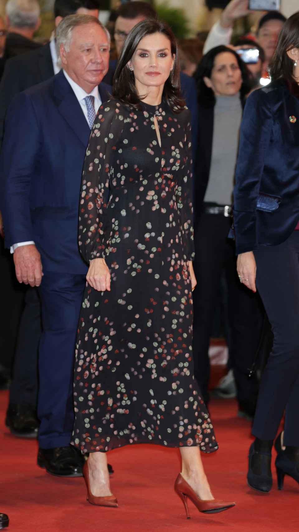El 'outfit' que ha lucido la Reina esta mañana.