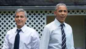 Dos ilustres canosos, George Clooney y Barack Obama.