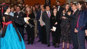 La reina Letizia en el 'stand' de Corea del Sur en Fitur.