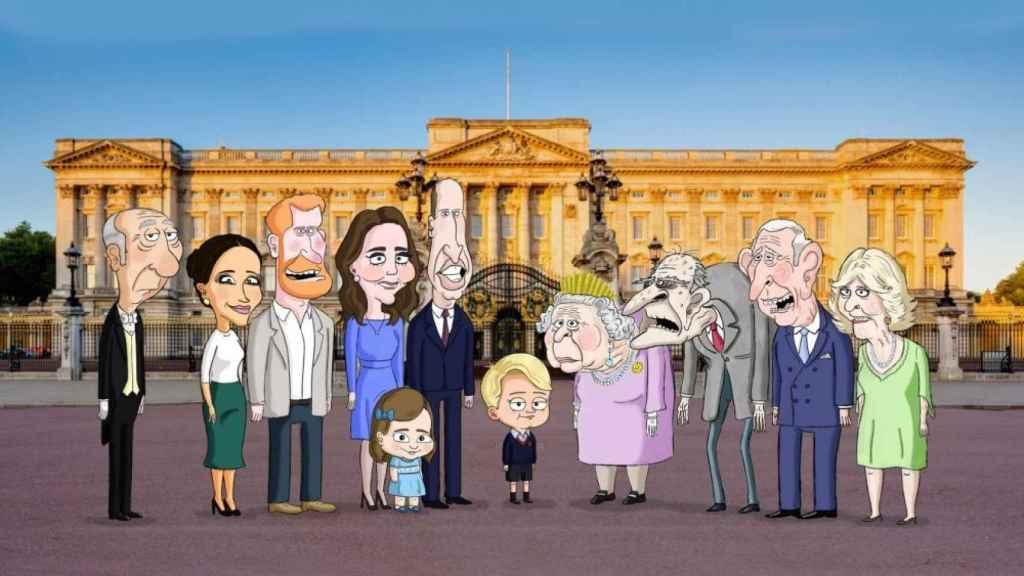 Imagen de la nueva serie de HBO Max sobre la familia real británica.