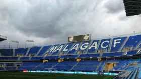 El estadio de La Rosaleda