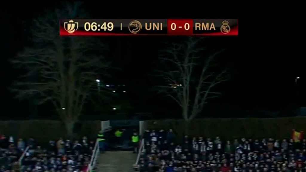 La retransmisión televisiva del Unionistas - Real Madrid arregla el marcador