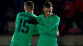 Bale no celebra su gol ante Unionistas