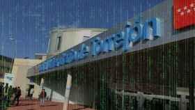Fachada del Hospital de Torrejón. Montaje.