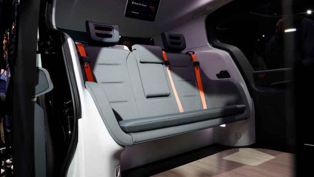 Interior del vehículo autónomo Cruise Origin
