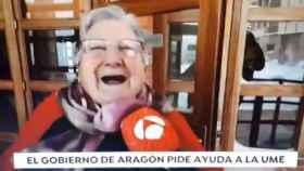 Angelines en el informativo de Antena 3 que la ha hecho popular en todo el país
