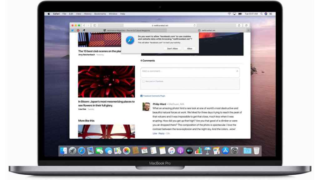 Navegador Safari en un Macbook Pro