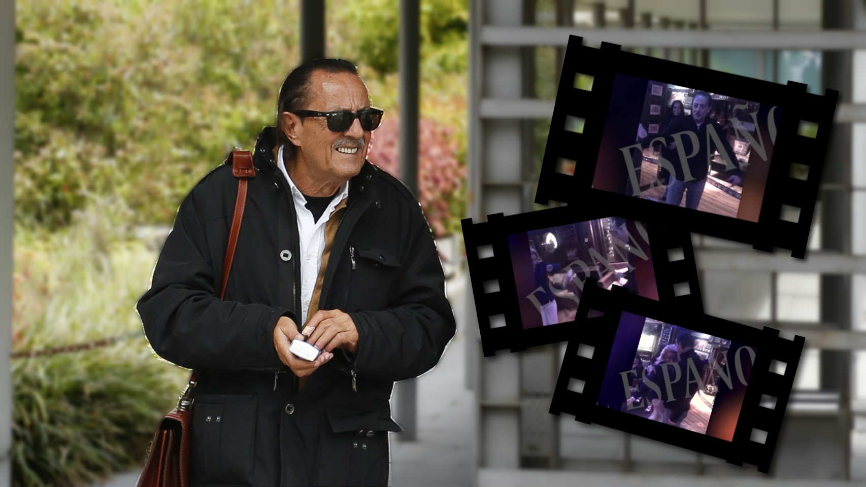 Julián Muñoz en un montaje de JALEOS junto a algunos fotogramas del polémico vídeo.