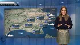 Fotograma de la predicción del tiempo en El español.