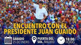 Guaidó se cita el sábado con la diáspora venezolana en Madrid e ignora el plantón de Sánchez