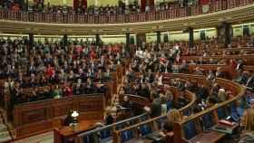 Vista del hemiciclo del Congreso de los Diputados durante la sesión de investidura.