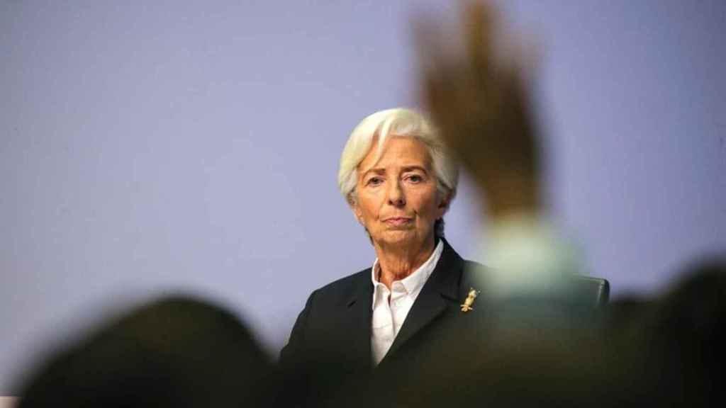 La presidenta del Banco Central Europeo (BCE), Christine Lagarde, en una comparecencia.