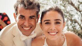 Daniel Muriel y Candela Serrat, el día de su boda.