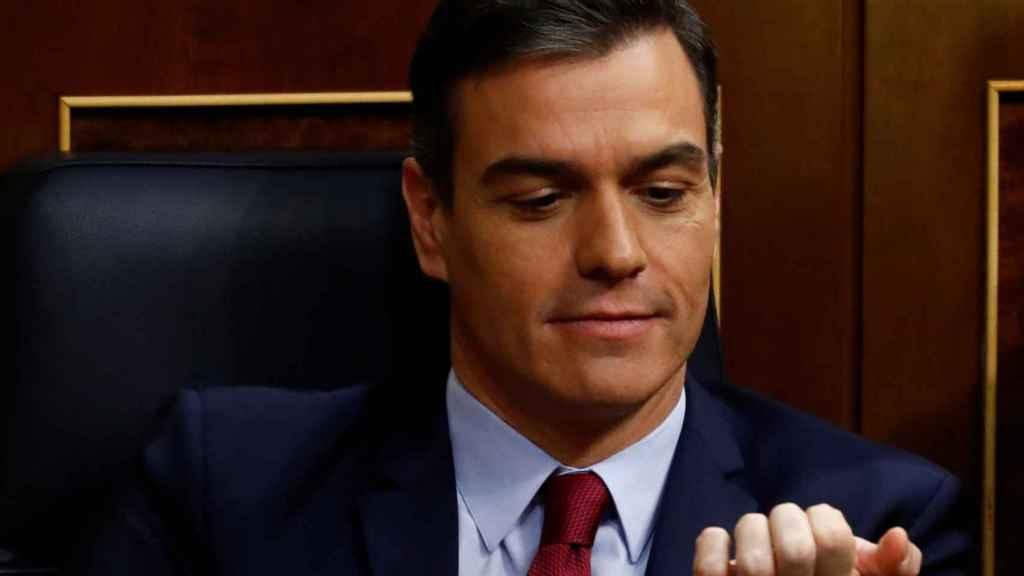Pedro Sanchez, en el Congreso.