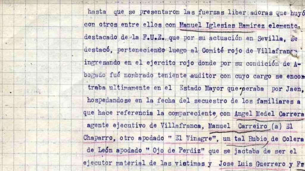 Testimonio de María Ceballos Zúñiga, familiar de los asesinados.