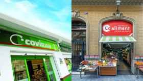 Imagen de dos supermercados Covirán y Coaliment (Covalco).