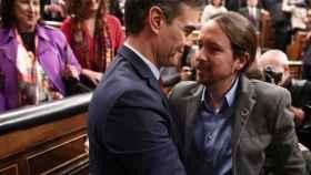 El presidente Sánchez y su vicepresidente Iglesias.
