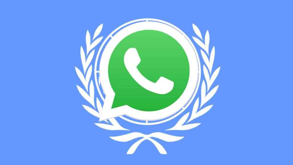 Montaje de la bandera de la ONU con el icono de Whatsapp