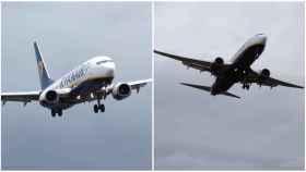 Debido a los fuertes vientos y a la lluvia, el avión tuvo que hacer un complicado aterrizaje de Emergencia.