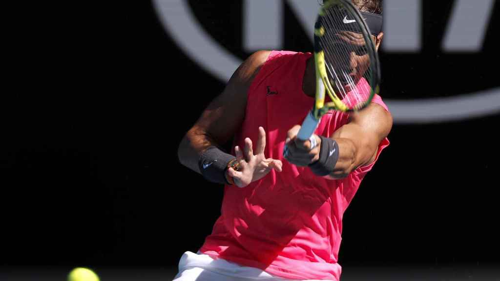 Rafa Nadal en el Open de Australia ante Pablo Carreño
