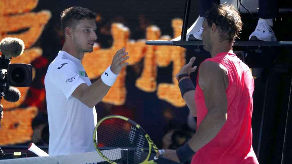 Rafa Nadal y Pablo Carreño en el Open de Australia