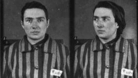 Fotografía de María Alonso tomada a su llegada al campo de concentración de Auschwitz (3 de febrero de 1943).