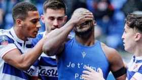 Yajou Meite, en la celebración de su gol en el Cardiff City - Reading