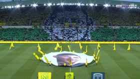 Tifo del Nantes en honor a Emiliano Sala