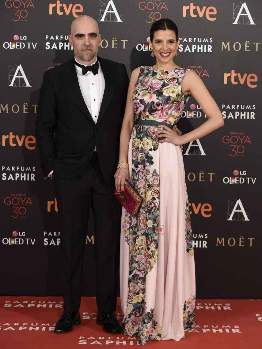 Luis Tosar y María Luisa Mayol, en la gala de los Goya en 2016.