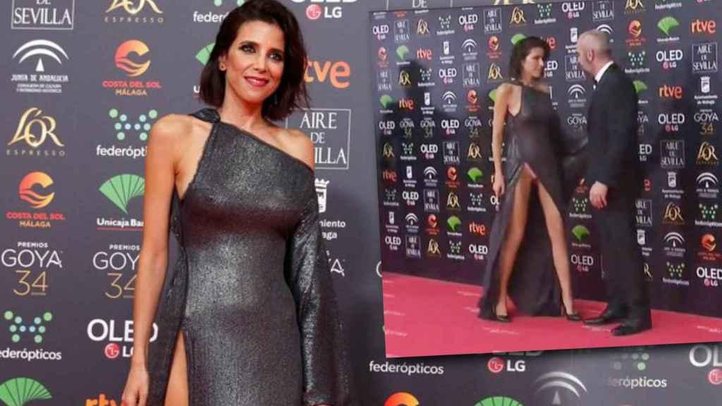 María Luisa Mayol, en la alfombra roja de los Goya.