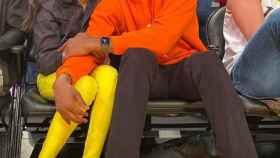 Gianna Maria y Kobe Bryant, en un partido de la NBA