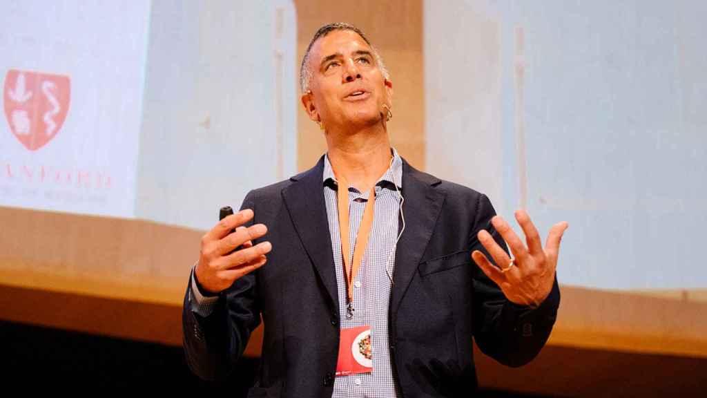 El asesor científico de Beyond Meat, Joseph Puglisi, en Ftalks en Valencia.