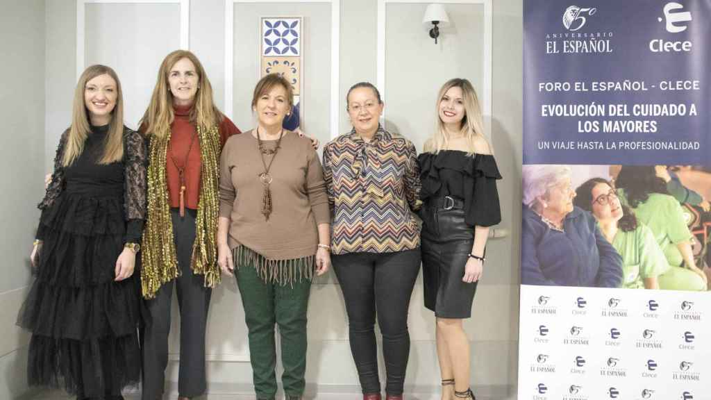Foto de familia de las ponentes del foro organizado por EL ESPAÑOL y Clece.