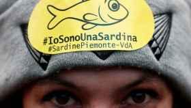 Una de las manifestantes del movimiento de las Sardinas