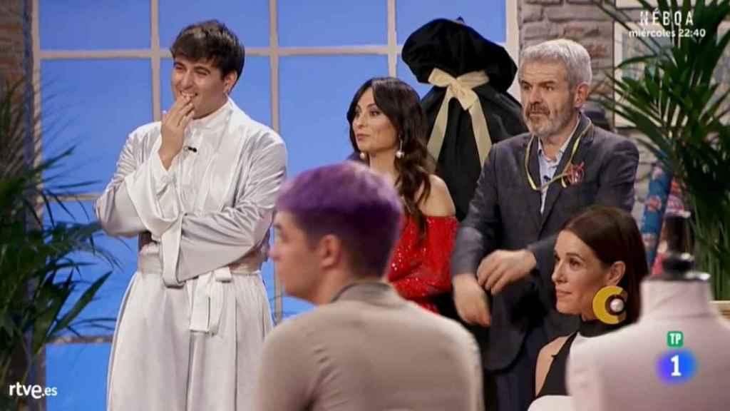 Spain, Escoté y Caprile durante la emisión del programa.