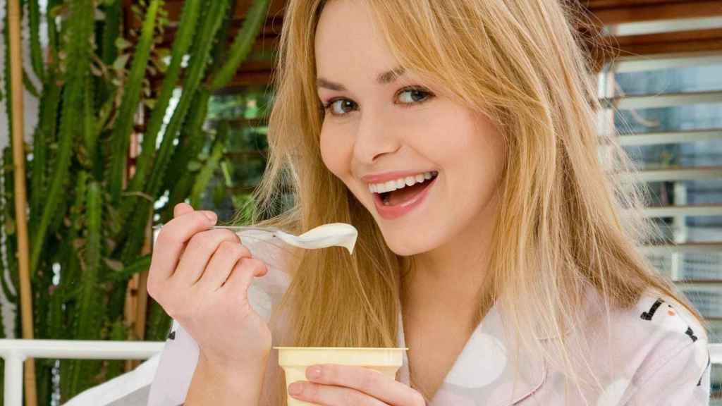 Yogur y salud de la mujer.