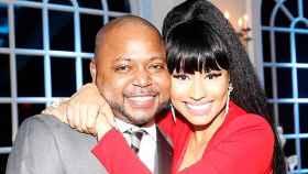 Nicki Minaj y su hermano, en un evento.