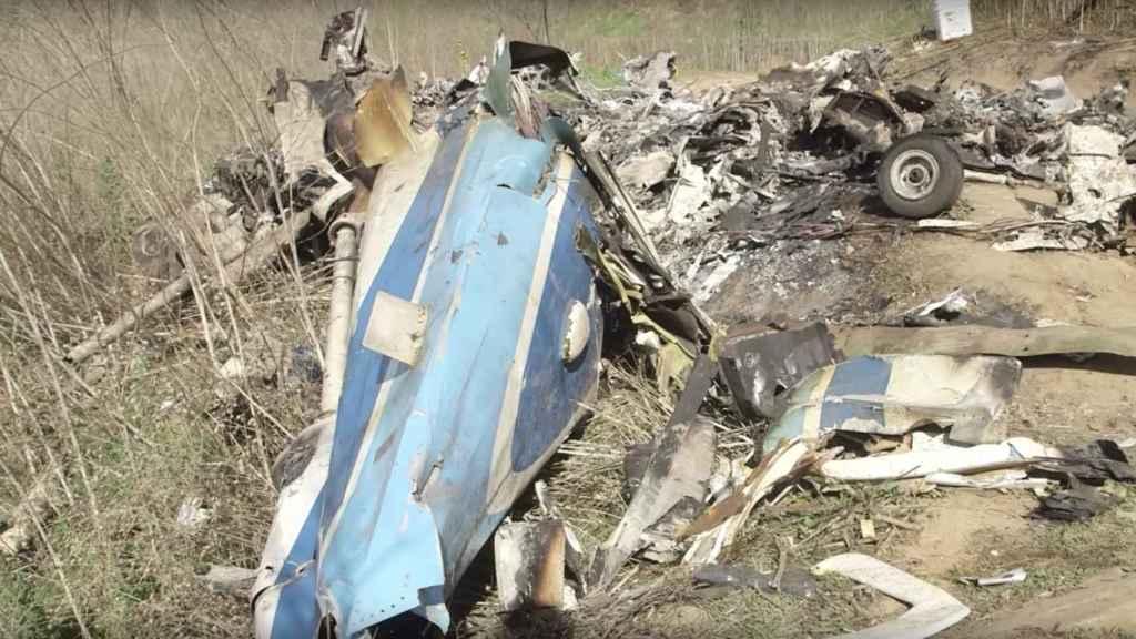 Así quedó el helicóptero de Kobe Bryant tras el accidente