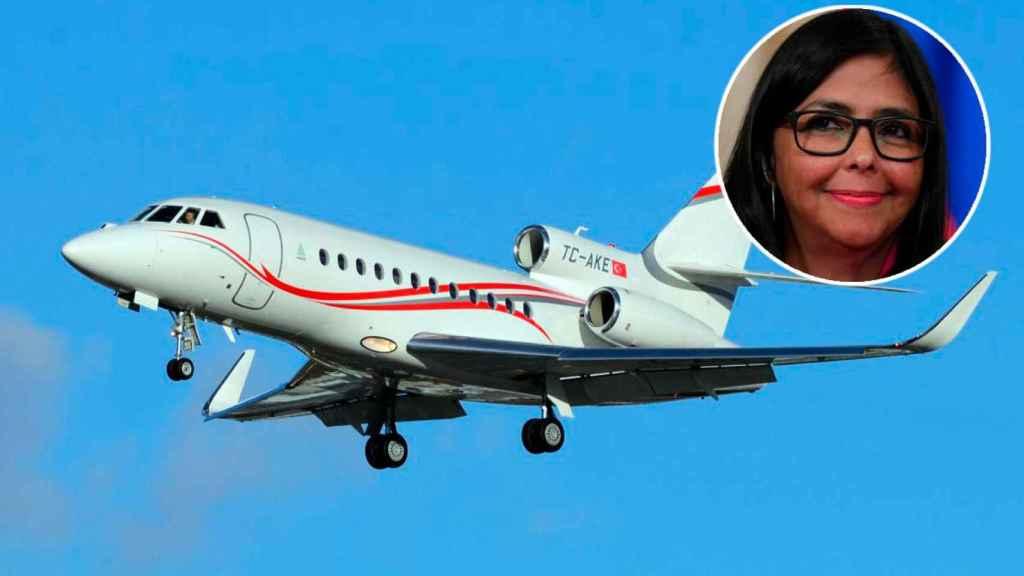 El Dassault Falcon matrícula TC-AKE de Delcy Rodríguez, número dos de Nicolás Maduro.