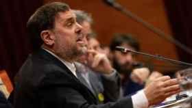 Oriol Junqueras en la Comisión de investigación de la aplicación del 155 en el Parlament.