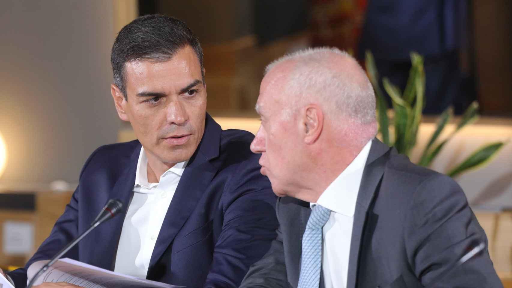 Pedro Sánchez y Faustino Blanco.